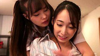 Extreme close up of Japanese teen masturbating Uncensored