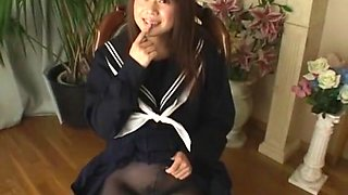 Mikan in School Girl with Black Tights part 2