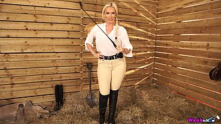 Jaw dropping busty goddess with whip Lucy Zara wants to punish bad boy
