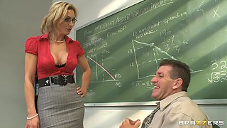 Beautiful Blonde Teacher With Big Gorgeous Tits Enjoying A Hardcore Doggy Style Fuck