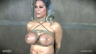 Some breast bondage is what grey haired nympho is made for