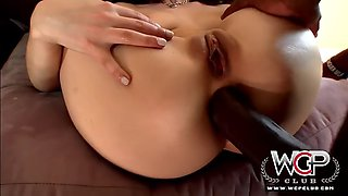 Hosewfe takes a bbc up her ass