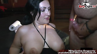German big natural tits housewife private creampie party