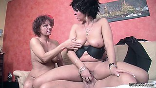 Two German MILF Mom Seduce Stranger to Fuck with Her
