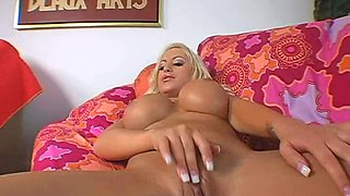 Busty blonde Savanah Gold gets her pussy and asshole fucked
