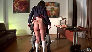 dean punishes gloria a for smoking with spanking and some anal banging