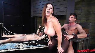 Amazing milf vs two dicks