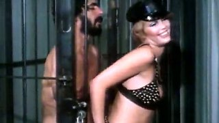 Tough dominatrix is fucked and punished by her sex slave. Retro BDSM porn clip