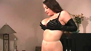 Wicked mistress dominates her sissy thrall