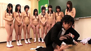 Jav Schoolgirls Made To Bully Classmate By Crazy Teacher