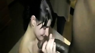 Cuckold Wife Swallows BBC Cum