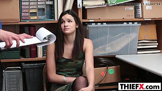 Brunette teen Eden Sin gets punished