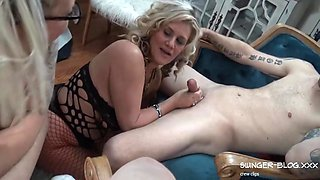 Busty Blonde Sluts In Sexy Lingerie Sucking Dicks At A Party With Heather C Payne