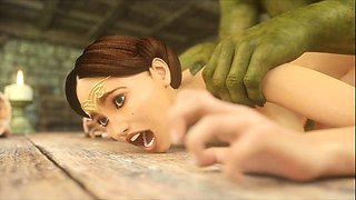 3D Girls Love Ogres and Minothaurs!