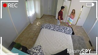 Perverted daddy fucks busty nanny Lena Paul in front of hidden camera