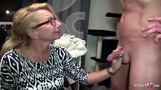 Big Tits German MILF Boss Seduce Candidate to Fuck on Work