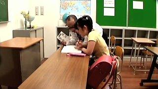 Hidden cam films a pretty chick having fun with her teacher