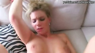 Big breasts blondie Czech babe pussy pounded for money