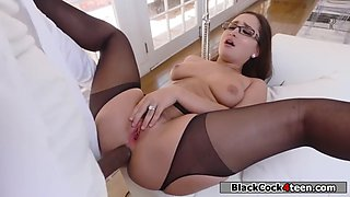 Gabriella paltrova gets her tight ass fucked by black guy boss cock