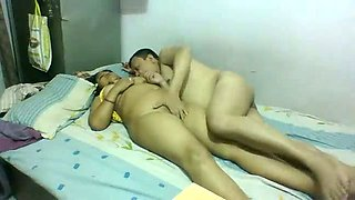Dude eats his Indian housewife and teabags her in front of webcam