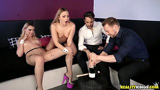 Selvaggia and Anny Aurora like to fuck with two guys at once