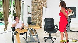 Big boobed MILF boss needs her assistant's hard dick