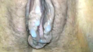 Nasty looking twat of my aunt got fucked by friend's cock