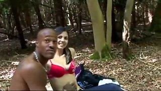 Indian jain Girl fucking blackman in forest