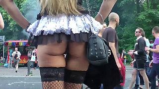 berlin babe in public flashing, fucking and cumshot