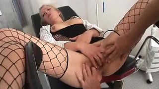 Doctors fucking their patient before a threesome facial