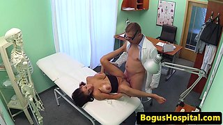 Busty eurobabe fucked in missionary by doctor