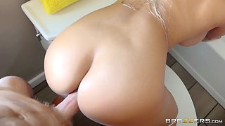 big ass cuban mom luna star takes monster cock in the bathroom