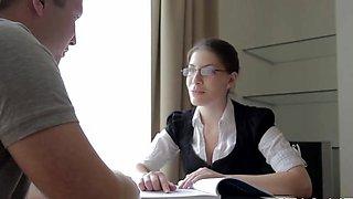 Sex appeal russian Zena Little enjoys a big phallus