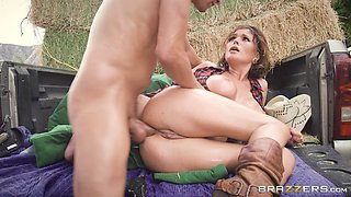 Krissy Lynn is a country girl with big tits who loves riding a dick