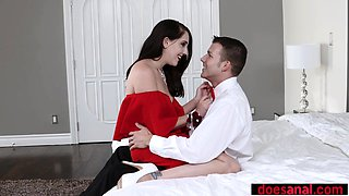 Babe anal fucked on prom night to keep her virginity