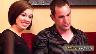 Swinger wife rides the sybian machine