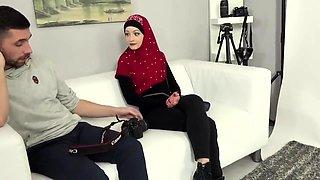 Sensuous Arabic teen satisfies her intense desire for cock