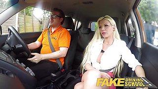Fake Driving School Barbie Sins sloppy cock suck