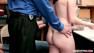 Alluring chick Veronica Vega gets her pussy punished for shoplifting