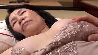 Japanese grandmother Miyamae Nami fucked hard