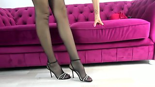 High heels and stockings tease ep2