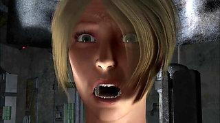 3D Alien Has Sex With Blonde Woman