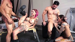 Riding bikes and fucking with Anna Bell Peaks and Felicity Feline