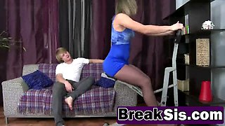 Rhu Emily extreme upside down blowjob with step brother
