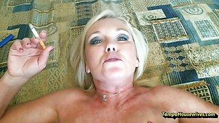Blonde Ms Paris Rose in Smoking Sex