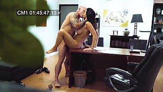 MILF filmed in secret when fucking with her boss