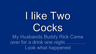 Husband and his friend Rick dual team my holes in threesome