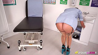 Horn-mad nurse Jess West has a great way to relax right at work