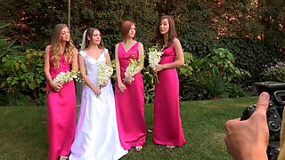 BRIDE HAS LESBIAN FOURSOME WITH BRIDESMAIDS