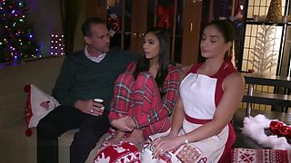 Trickery - Naughty Gianna Dior fucks step daddy santa